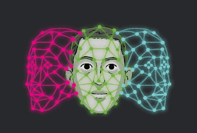 Phần mềm được dạy cách tự điều chỉnh gương mặt bị lệch hướng. Ảnh: California Sunday.