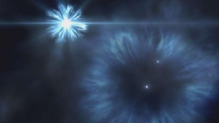 Ảnh minh họa ngôi sao J0815+4729 được hình thành từ những mảng vật chất siêu tân tinh trong vũ trụ. Ảnh: Phys.