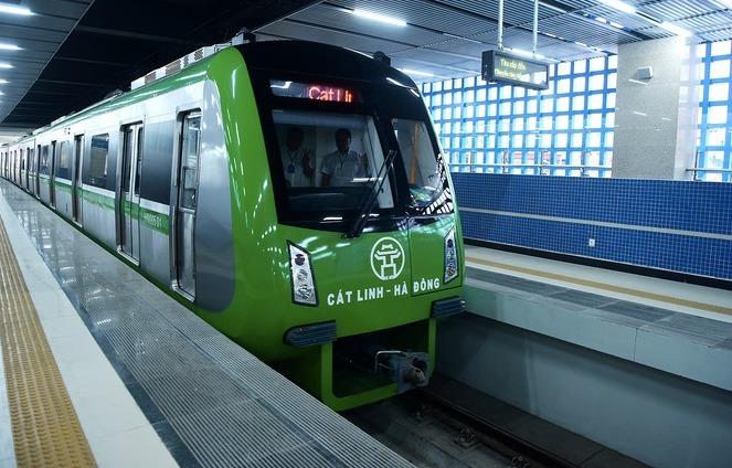 Dự án đường sắt Cát Linh - Hà Đông đang được vận hành thử. Ảnh: Giang Huy
