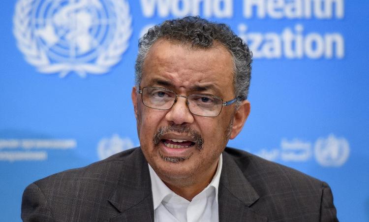 Giám đốc WHO Tedros Adhanom Ghebreyesus trong cuộc họp báo tại Thụy Sĩ hôm 30/1. Ảnh: AFP.