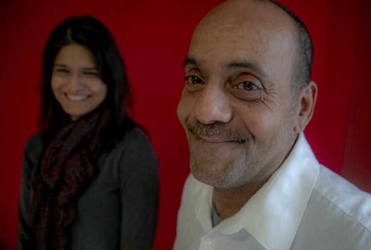 Rafael (phải) tươi cười cùng luật sư sau khi được minh oan. Ảnh: AP.