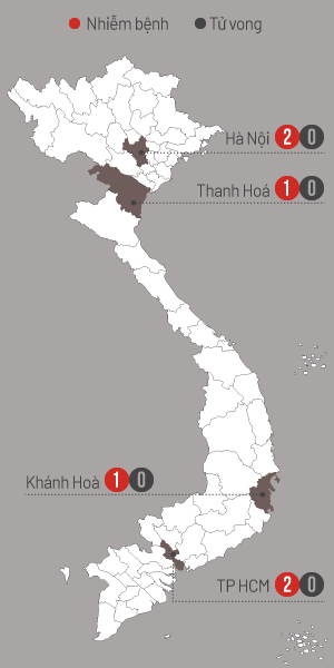 Dịch corona virus ở Việt Nam. Đồ họa: Tiến Thành.