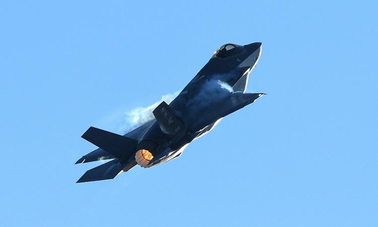 Tiêm kích F-35A bay huấn luyện tại bang Utah hôm 10/1. Ảnh: USAF.