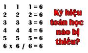 Điền những ký hiệu để kết quả bằng sáu
