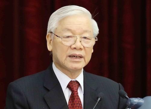 Tổng bí thư, Chủ tịch nước Nguyễn Phú Trọng. Ảnh: TTX