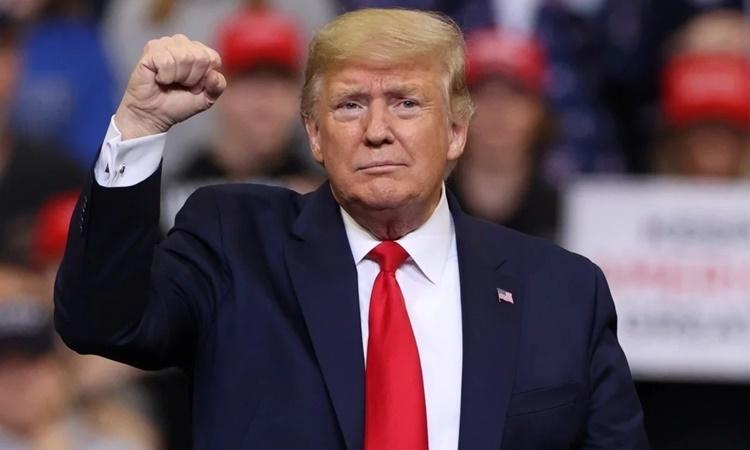 Tổng thống Mỹ Donald Trump phát biểu tại một cuộc vận động tranh cử. Ảnh: Reuters.