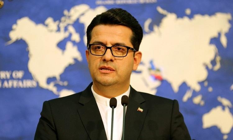 Người phát ngôn Bộ Ngoại giao Iran Mousavi trong một cuộc họp báo hồi tháng 5/2019. Ảnh: AFP.