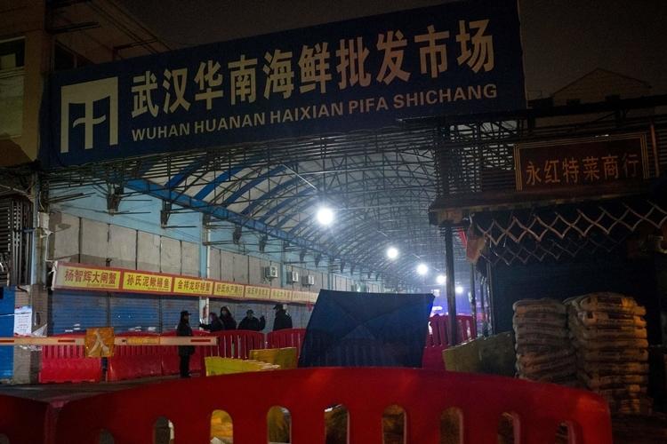 Chợ hải sản Hoa Nam ở Vũ Hán ngày 11/1. Ảnh: AFP.