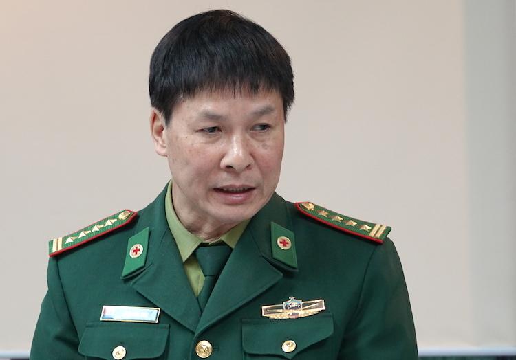 Đại tá Phan Đình Hoài, Trưởng phòng Quân y Bộ đội Biên phòng. Ảnh: Hoàng Thuỳ