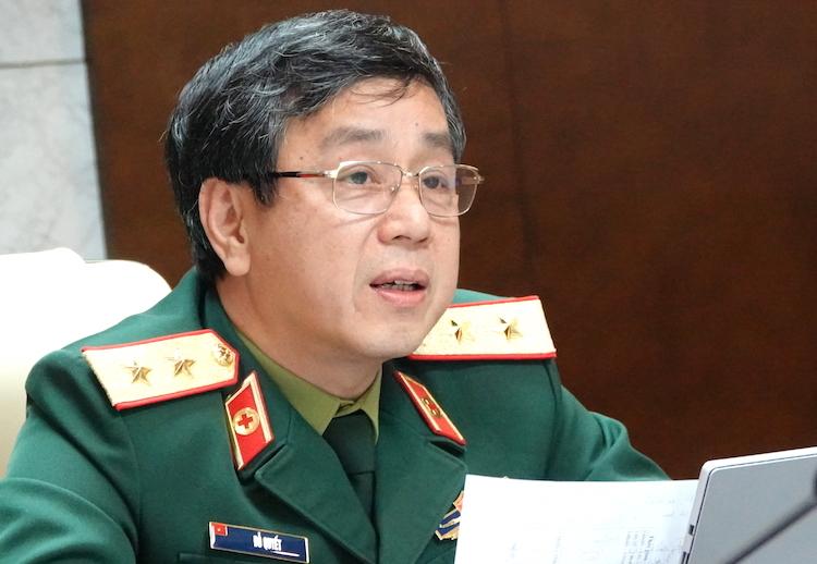 Trung tướng Đỗ Quyết, Giám đốc Học viện Quân y. Ảnh: Hoàng Thuỳ