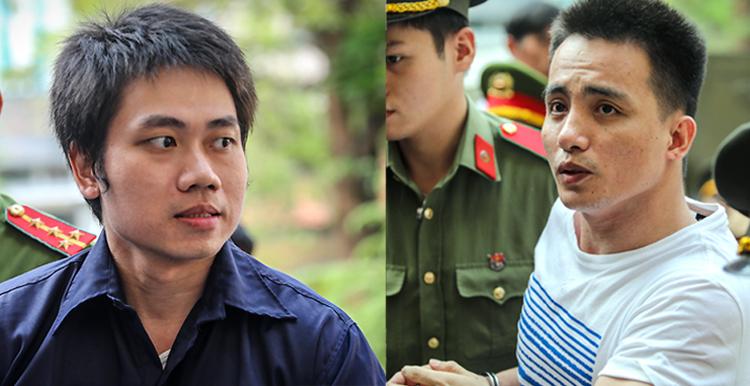 Phạm Bảo Quân và Lê Văn Mang hai đồng phạm của Văn Kính Dương được đình chỉ điều tra về tội Mua bán trái phép chất ma túy. Ảnh: Thành Nguyễn.