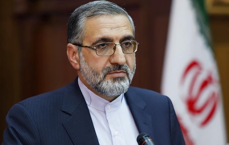 Phát ngôn viên Bộ Tư pháp Iran Gholamhossein Esmaili phát biểu tại một cuộc họp báo ở Tehran ngày 1/10/2019. Ảnh: rishenews.