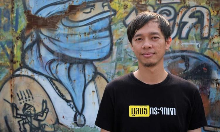 Piyabut Phailamun, 25 tu?i, s?ng ? khu ? chu?t t?i th? ?? Bangkok. ?nh: SCMP.