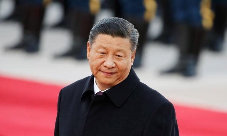 Chủ tịch Trung Quốc Tập Cận Bình trong lễ đón Tổng thống Brazil Jair Bolsonaro ở Bắc Kinh hồi tháng 10 năm ngoái. Ảnh: Reuters.
