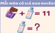 Chai nước và thanh sôcôla giá bao nhiêu?