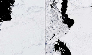 Biến đổi của sông băng Nam Cực qua ảnh vệ tinh