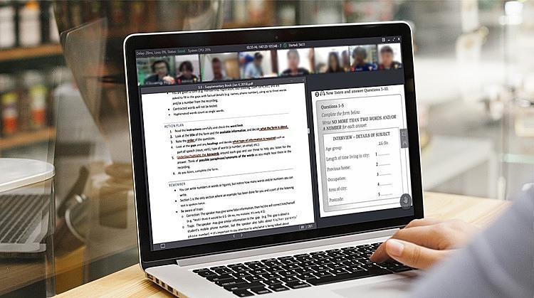 Hình ảnh mô phỏng giao diện của lớp học trực tuyến đang áp dụng cho học sinh YOLA.