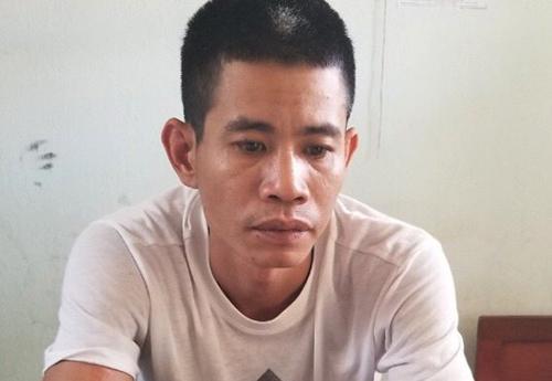 Nguyễn Xuân Mãi tại cơ quan điều tra. Ảnh: Công an cung cấp.