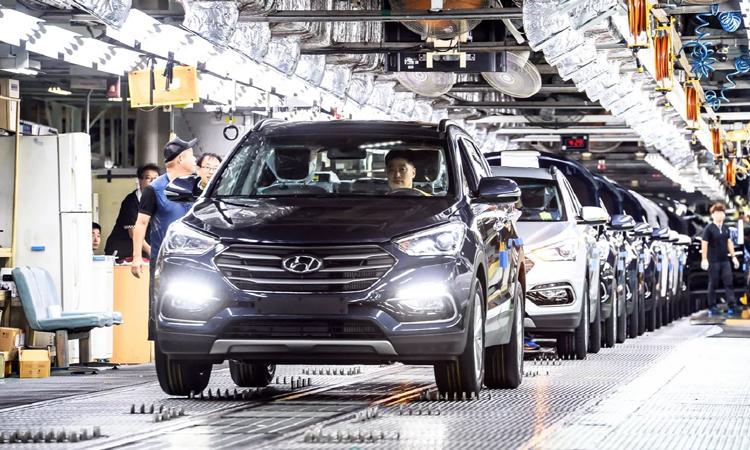 Hiện ba nhà máy của Hyundai ở Hàn Quốc đã ngừng sản xuất do phụ thuộc vào nguồn cung từ Trung Quốc. Ảnh: Hyundai