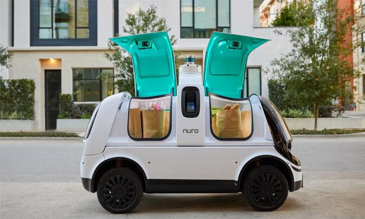 R2 với thiết kế chuyên chở và giao đồ, không có vị trí cho tài xế. Ảnh: Nuro