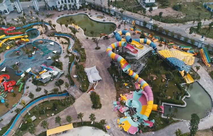 Công viên nước Thanh Hà bị cưỡng chế ngày 15/1/2020. Ảnh: Tất Định.