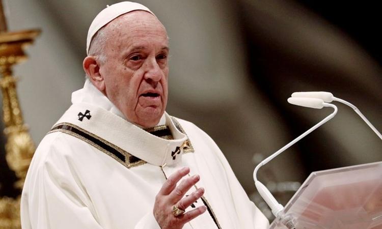 Giáo hoàng Francis tại Vatican ngày 6/1. Ảnh: Reuters.