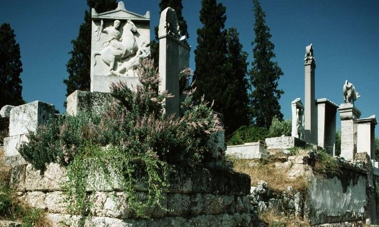 Nghĩa trang  Kerameikos ở Athens. Ảnh: Fox News.