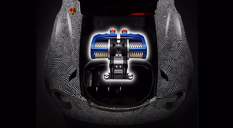 Nguyên mẫu động cơ điện của Yamahathử nghiệm trên một chiếc Alfa Romeo 4C. Ảnh: Yamaha