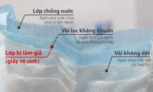 Cách thức dùng giấy vệ sinh làm giả khẩu trang y tế