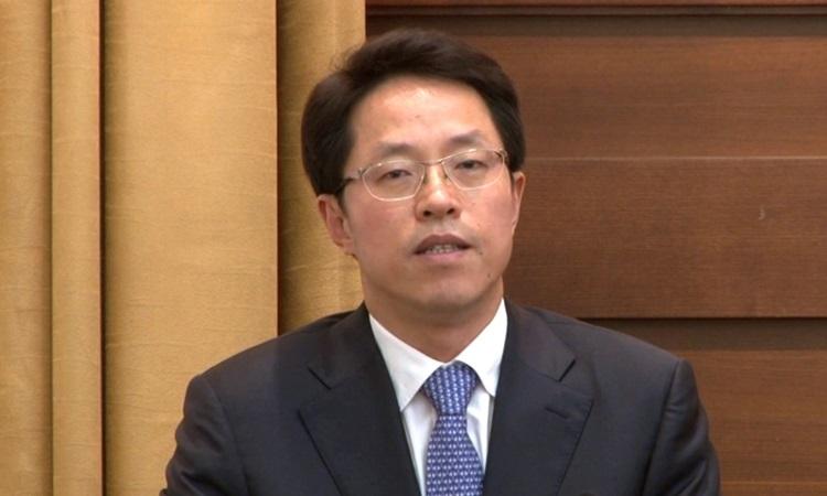Trương Hiểu Minh, người vừa bị giám chức giám đốc Văn phòng Các vấn đề Hong Kong và Macau. Ảnh: Symedilab.