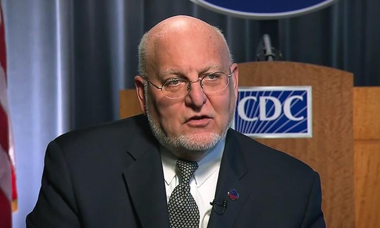 Robert Redfield, Giám đốc Trung tâm Kiểm soát và Phòng ngừa Dịch bệnh Mỹ (CDC), trả lời phỏng vấn CNN. Ảnh: CNN.