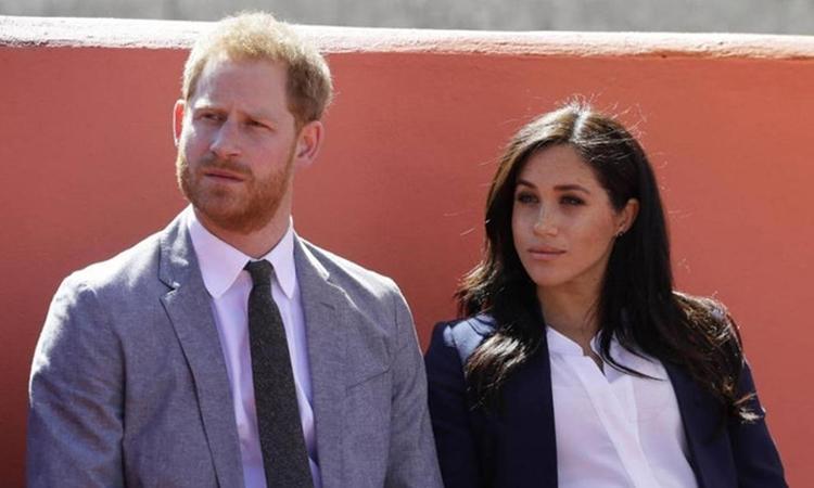 Vợ chồng Hoàng tử Harry tại Morocco hồi tháng 2/2019. Ảnh: Reuters.