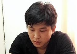 Lê Thành Tín đang bị Công an TP Tây Ninh tạm giữ. Ảnh: Hồng Tuyết.