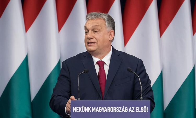 Thủ tướng Viktor Orban phát biểu trong Thông điệp Liên bang hàng năm hôm Chủ Nhật. Ảnh: Xinhua.