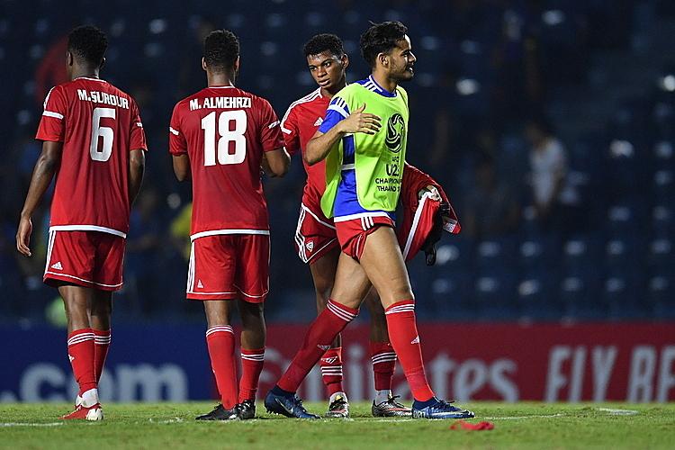 UAE (đỏ) từng hòa Việt Nam 0-0 ở vòng bảng. Ảnh: AFC.