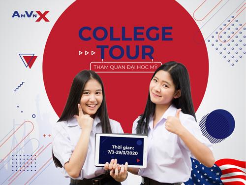 College Tour - Chương trình tham quan và khảo sát đại học Mỹ của AMVNX