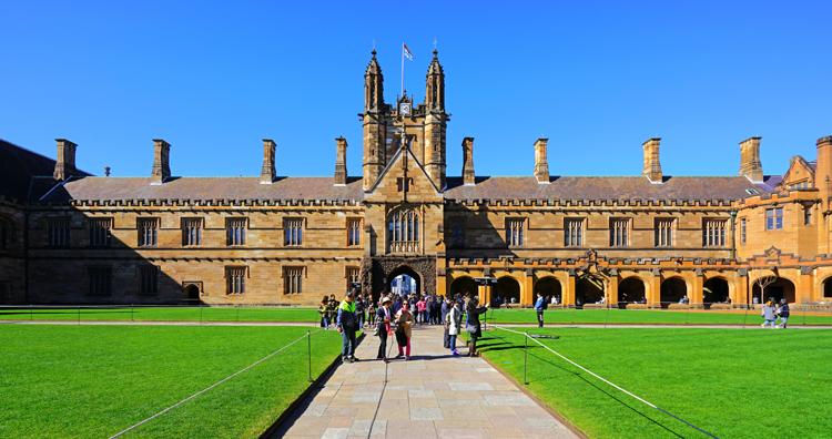 Khuôn viên Đại học Sydney, một trong những trường danh tiếng Australia. Ảnh: Shutterstock.