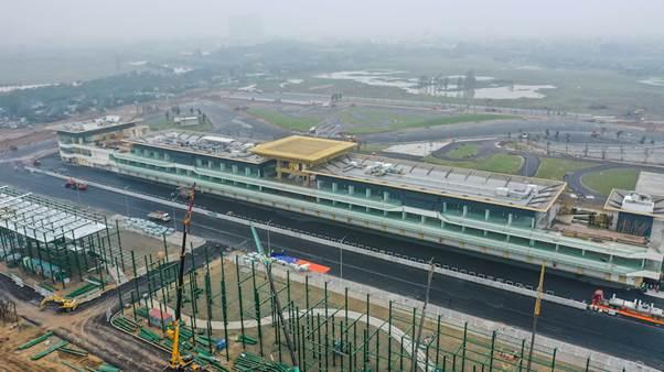 Đường đua F1 tại Mỹ Đình (Hà Nội) đang hoàn thiện những hạng mục cuối cùng.