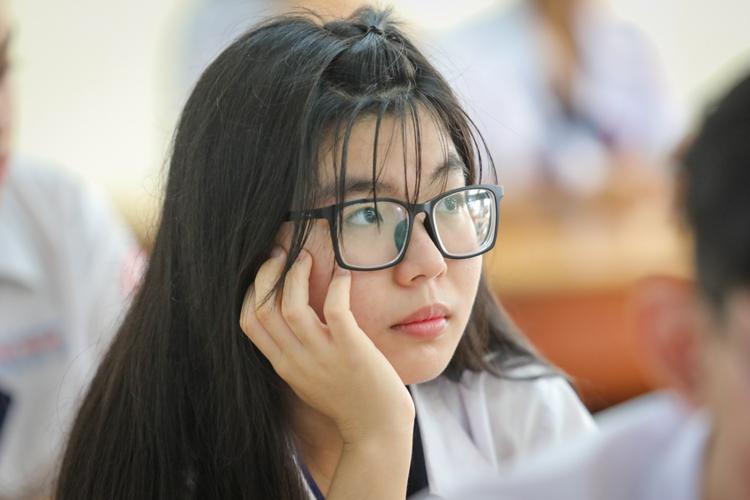 Học sinh dự thi THPT quốc gia 2019 tại TP HCM. Ảnh: Thành Nguyễn