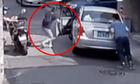 Tai họa khi phụ nữ khống chế xe ôtô bị trôi lùi