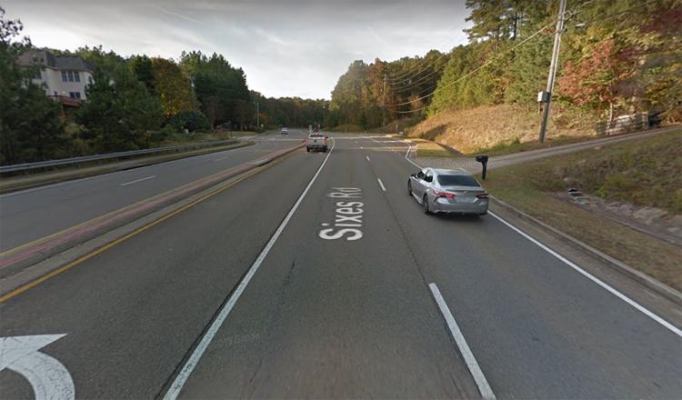 Đoạn đường nơi một tài xế kịp dừng lại cứu đứa trẻ đi một mình. Ảnh: Google Maps