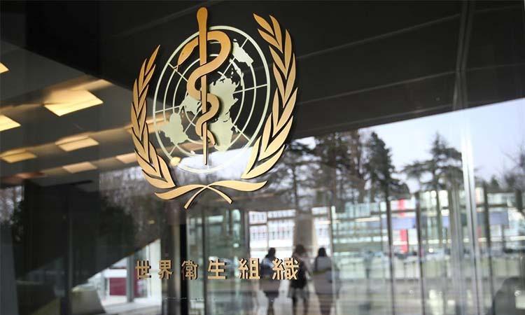 Logo bên ngoài tòa nhà đặt trụ sở Tổ chức Y tế thế giới (WHO) ở Geneva, Thụy Sĩ hôm 6/2. Ảnh: Reuters.