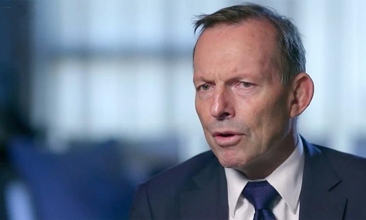 Cựu thủ tướng AustraliaTony Abbott trong phim tài liệuSky News, được phát sóng ngày 19/2. Ảnh: Sky News.