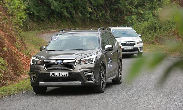 Subaru Forester trong một hành trình dành cho báo chí tại Hà Nội. Ảnh: Lương Dũng