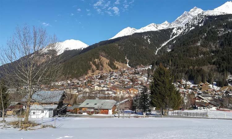 Khu nghỉ dưỡng trượt tuyết  Les Contamines-Montjoie ở đông nam nướcPháp. Ảnh: AFP.