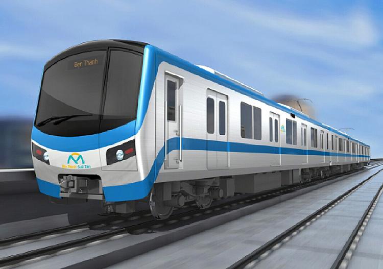 Hình dáng đầu tàu tuyến Metro Số 1. Ảnh: MAUR