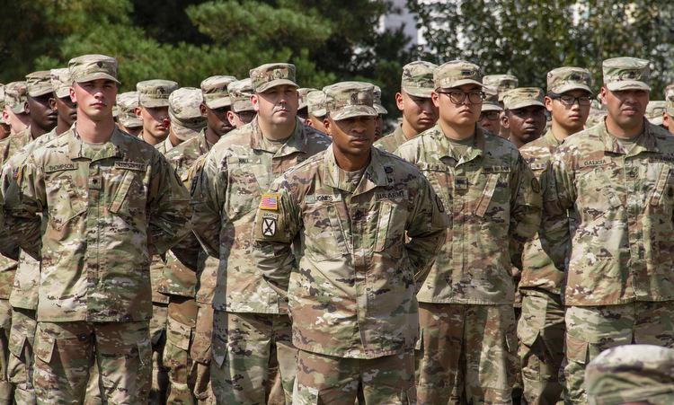 Lính Mỹ tại một căn cứ ở Daegu hồi năm 2019. Ảnh: USFK.