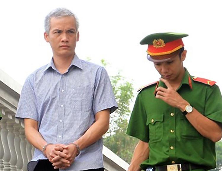 Bị cáo Đặng Trường An tại tòa. Ảnh: Tân Châu.