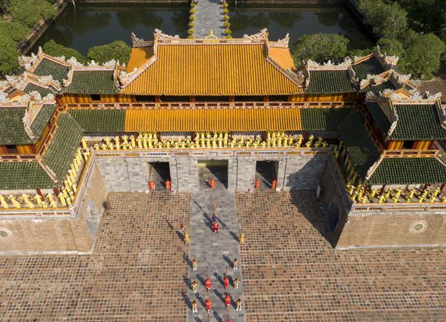 Lễ thiết triều sẽ được tái hiện trước sân chầu điện Thái Hòa. Ảnh: Võ Thạnh