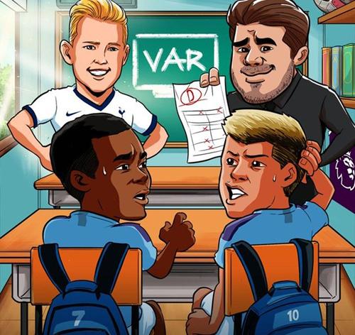 Một lần nữa Man City không thể vượt qua Tottenham vì VAR.
